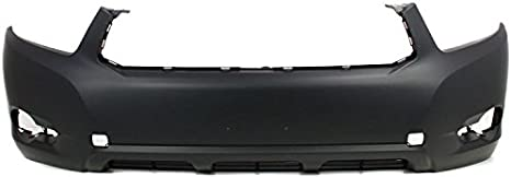 OE Replacement Toyota Highlander//Hybrid Front Bumper Cover Partslink Number TO1000338
