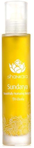 Shankara Sundarya Body Oil - Sensuous & Relaxing Floral Massage Oil - Ayurvedic Daily Moisturizer - pH Balanced, Rich in Essential Oils, Vitamins & Antioxidants - Suits All Skin Types - 100 ml (Body Sensuous Moisturizer)