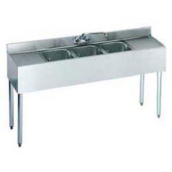 Krowne metal underbar three compartment sink - Undermount 3 compartment kitchen sinks ...