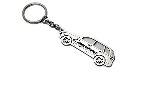 Llavero con anillo para Porsche Cayenne I acero clave ...