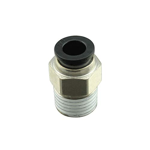 Metalwork Plastic & Nickel Plated Brass Push to Connect Straight Male Round Fitting, 1/4