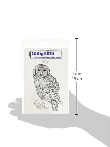 Twit Twoo 5 by 4-Inch IndigoBlu Cling Mounted Stamp