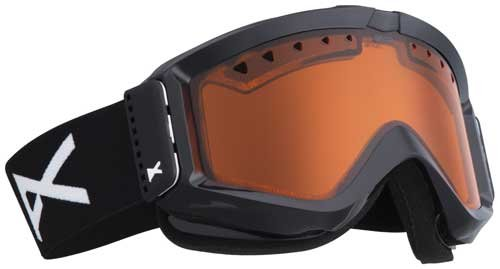 (Anon Figment Goggle, Black Emblem/Gold Chrome, One)
