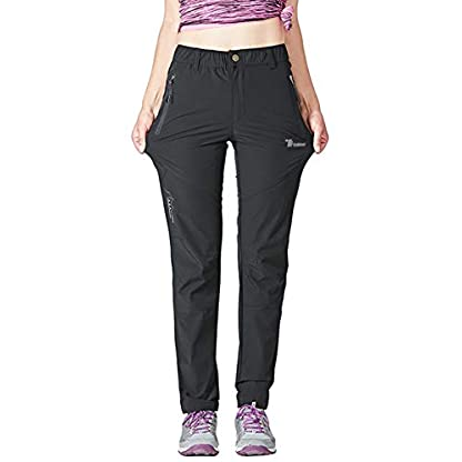 YSENTO Women's Outdoor Quick Dry Hiking Trousers Lightweight Water Resistant Walking Climbing Pants With Zipper Pockets 1
