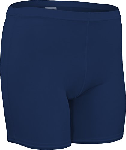 CL-111-CB Men's and Women's Mid-Weight Compression Short-Great for Running, Aerobics, and Gymnastics-Tight Form Fitting Material Provides Unmatched Flexible Support (X-Large, Navy)