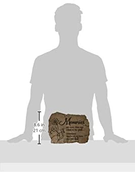 10.5-Inch by 8-Inch Heaven Home Carson Home Accents Garden Stone