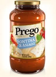 Prego Italian Pasta Sauce 23.5oz Jar (Pack of 4) Choose Flavor Below (Fontina & Asiago Cheese) by Prego