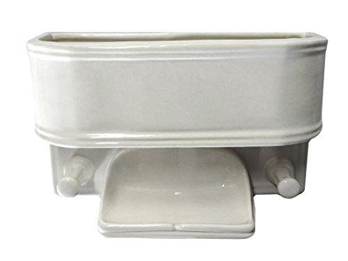 Art in Sink 1MB1/1005 11-1/2'' Ceramic Multi Utility Shower White Wall Basket by Art in Sink