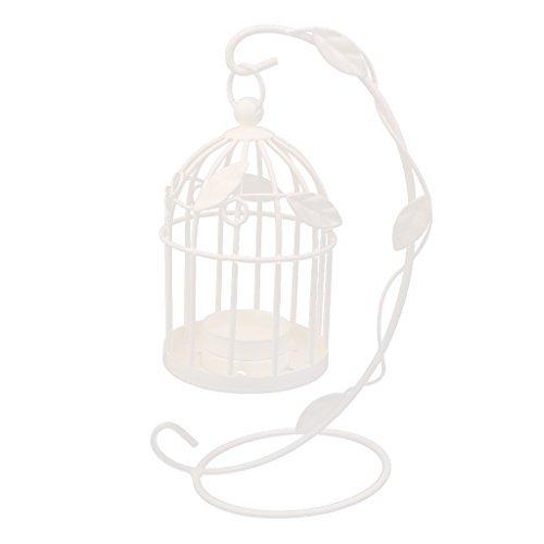 Dasuke Candelabro Soporte de Vela diseño de Jaula de pájaros de ...