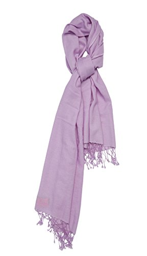 Pure Cashmere Shawl (Faded Lilac) by Cashmere Boutique