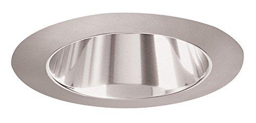 Juno Lighting 447PT-SC 4-Inch Adjustable Cone Recessed Trim, Pewter Alzak with Satin Chrome Trim -