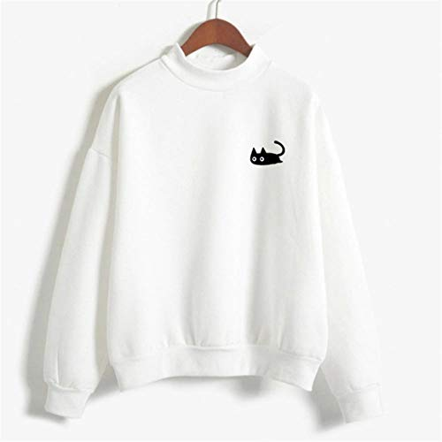 Manches Longues Solide Souris Blouse Top Bellelove Petite Femme Blanc Sweat Shirt 2018 Loisirs Lache Tee Print Femmes Casual Pull 5ESEygpq