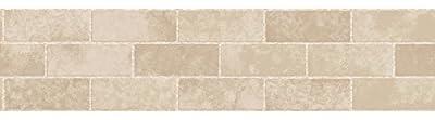 Fine Decor FDB50029 Cream Stone Tile Peel and Stick Border