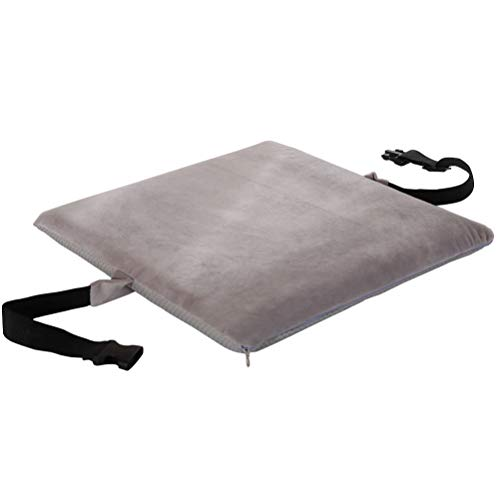 YGYQZ Memory Foam Cushion, Non-Slip Simple Soft Refined Office Chair Couch Wheelchair Seat Cushion 16×16 inch Slow Rebound Pad Mat Tatami for Car/Home/Office/Outdoor (Grey) (Home Furnishings Woman Within)