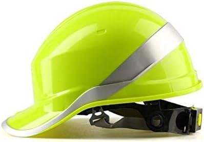 LCSHAN 絶縁されたヘルメットの通気性の日曜日の保護建物のヘルメットの耐衝撃性 (Color : Yellow)
