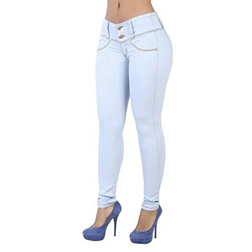 Femmes Skinny Slim Pantalons Jeans Demin,Leggings Femmes Stretch Skinny Taille Haute Crayon Pantalon Collants Push Up Jeans Bleu Marin
