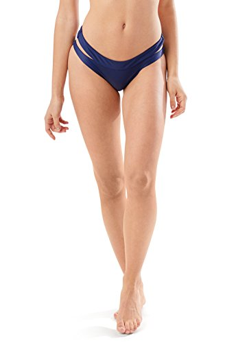 Speedo Women's Trinity Hipster Bikini Bottom, Navy, Medium Medium Show Bit