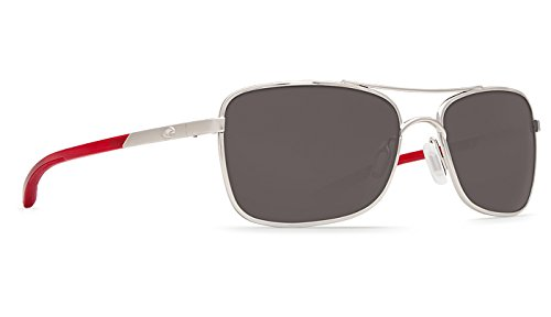 Costa Del Mar Palapa Sunglasses, Palladium, Gray 580P - Palapa Costa