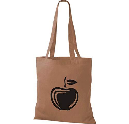 Algodón Bolso Shirtinstyle Frutas Burdeos Tu X Favorita Cm Manzana De Tela 42 Y Hortalizas Bolsa 38 Marrón Claro dI1qB1w