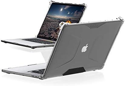 """Urban Armor Gear Plyo Hülle für das Apple MacBook Pro 16"""" - transparent [Sturzfest, Lüftungsschlitzaussparungen, Anti-Rutsch Füße, Dual-Lock Verschluss]"""