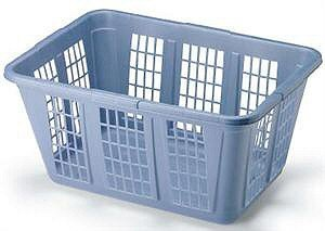 Rubbermaid Laundry Basket, 1.65-Bushel, Blue