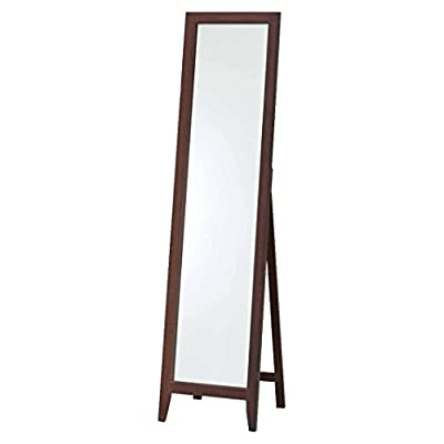 Pilaster Designs - Walnut Finish Solid Wood Frame Floor Mirror -  - mirrors-bedroom-decor, bedroom-decor, bedroom - 31lGobzEwRL. SS400  -