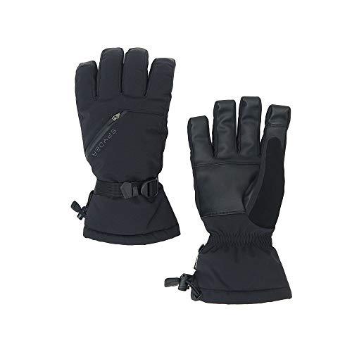 Spyder Men's Vital 3 In 1 Gore-tex Ski Glove, Black/Black/Black, Large