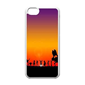 Q9G39 Uno Personajes Piece J1U5PF funda iPhone funda caso 5c teléfono celular de cubierta AQ3EZL4HA blanco