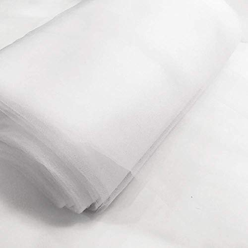 """54"""" by 40 Yards (120 ft) Fabric Tulle Bolt for Wedding and Decoration (White)"""