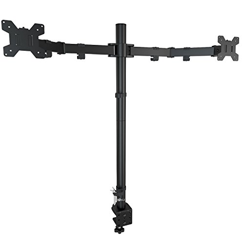 Wali Dual Lcd Monitor Desk Mount Extra Tall Stand Fits Two