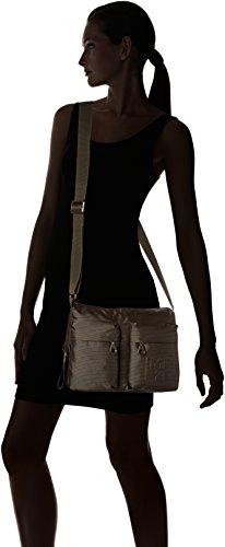 Duck Mujer Tracolla y Shoppers hombro bolsos Marrón Mandarina Pirite de Md20 d4Uqxd1
