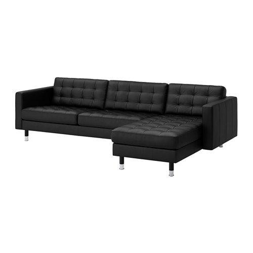 Ikea Sectional, 4-seat, Grann, Bomstad black/metal 14202.11814.238