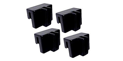 (Black Plastic File Hanger Clips 4/pk #9000)