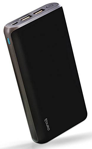 Aduro 20,000mAh Battery Pack Power Bank, External Battery Charger Compatible with iPhone Android Smartphone Tablet Portable Power Backup Charges Any USB Device (Black)