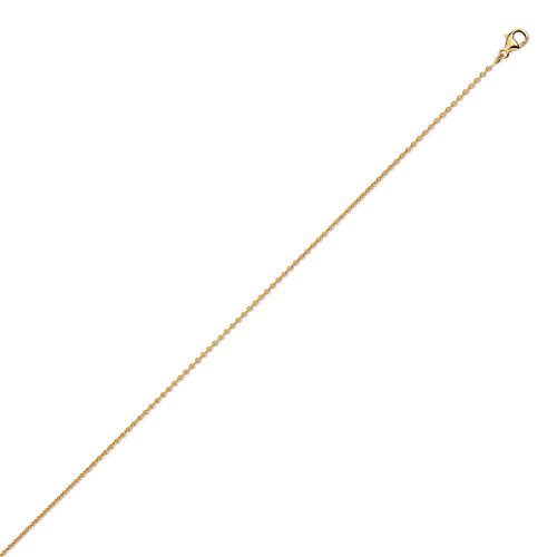 DIAMANTLY Collier or 750 forcat rond 1,3 mm - 45 cm