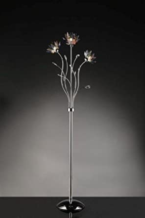 Elegant Floral Crystal Floor Lamp Glass Flower Floor