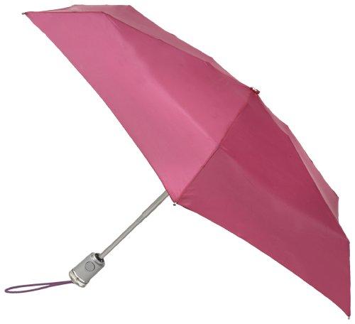 Totes Basic Automatic Umbrella Magenta