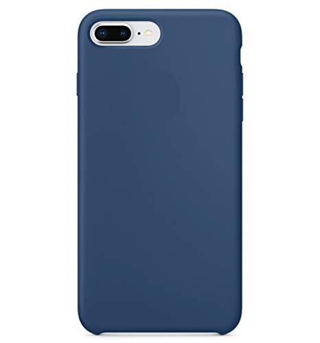 BigMike Compatible for iPhone 8 Plus Case, iPhone 7 Plus Case, Soft Liquid Silicone Shock-Absorption Case with Soft Microfiber Cloth Lining Cushion for iPhone 7 Plus / 8 Plus - 5.5inch (Blue Cobalt)