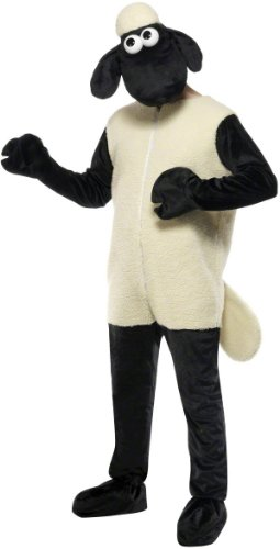 KULTFAKTOR GmbH Men's Shaun The Sheep Costume Fawn One Size Fits All (Black Sheep Costume For Adults)