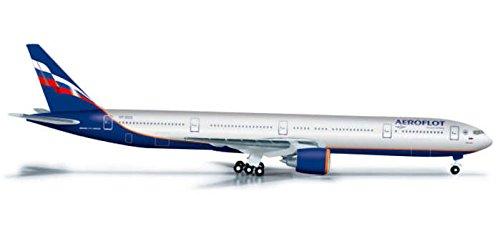 HE526364 Herpa Wings Aeroflot 777-300ER 1:500 Model Airplane