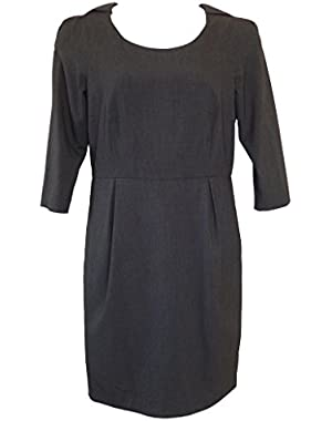 Calvin Klein Charcoal Grey Career Dress 12