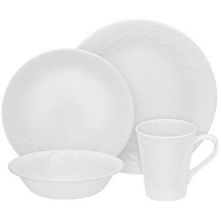 Belle Dinnerware (32-Piece Embossed Bella Faenza Dinnerware Set Microwave, dishwasher and oven safe chip-resistant)