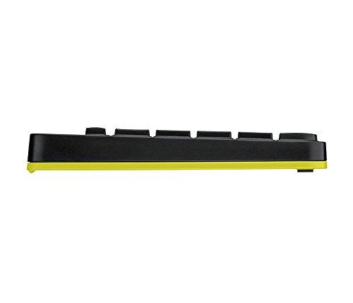Logitech MK240 Nano Est/ándar, Inal/ámbrico, RF Wireless, Black, Amarillo, Rat/ón Incluido Teclado