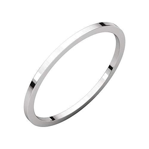 (Bonyak Jewelry Platinum 1 mm Flat Band - Size 6.5)