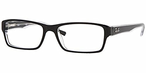 Ray-Ban RX 5169 Eyeglasses Top Black on Transparent 54mm & Cleaning Kit - Rayban 5169