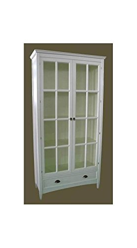 Charleston Bookcase With Glass Door, White