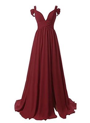Dressytailor Women's Sweetheart Off-the-shoulder Long Chiffon Bridesmaid Dress Evening Gown