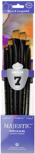Majestic Royal and Langnickel Long Handle Paint Brush Set, A