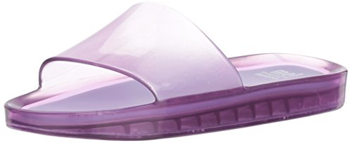 Mini Melissa Girls' Mel Beach Slide Flat Sandal, Lilac Summer, 2 Regular US Little Kid