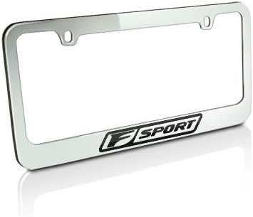 FSPORT BLACK Powder Coated Metal License Plate Frame Tag Holder w//Screw caps